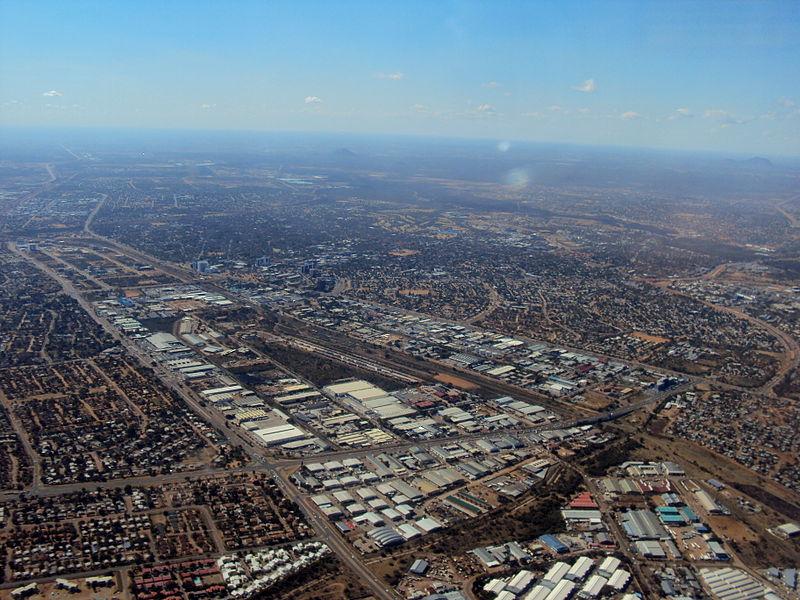 Gaborone botswana desde el aire